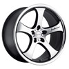 Image of MRR CV2 MATTE BLACK MACHINED wheel