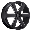 Image of 2 CRAVE No31 BLACK WITH CHROME  wheel