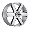 Image of 2 CRAVE No31 CHROME WITH BLACK SUV wheel