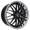 Image of CURVA CONCEPTS C3 BLACK WITH STAINLESS LIP wheel