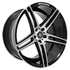 Image of CURVA CONCEPTS C5 BLACK MACHINE FACE wheel