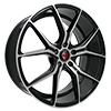 Image of CURVA CONCEPTS C42 BLACK MACHINE FACE wheel