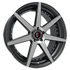 Image of CURVA CONCEPTS C47 GUNMETAL MACHINE FACE wheel