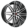Image of CURVA CONCEPTS C48 BLACK MACHINE FACE wheel
