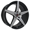 Image of CURVA CONCEPTS C55 BLACK MACHINE FACE wheel