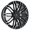 Image of CURVA CONCEPTS C87 BLACK MILLED SPOKE wheel