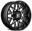 Image of BALLISTIC 819 SPIDER GLOSS BLACK MILLED wheel