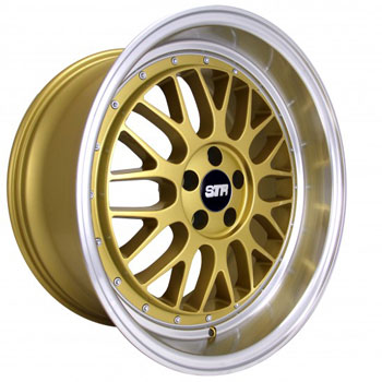 STR RACING STR 601 GOLD - Gold/Machined Lip Finish